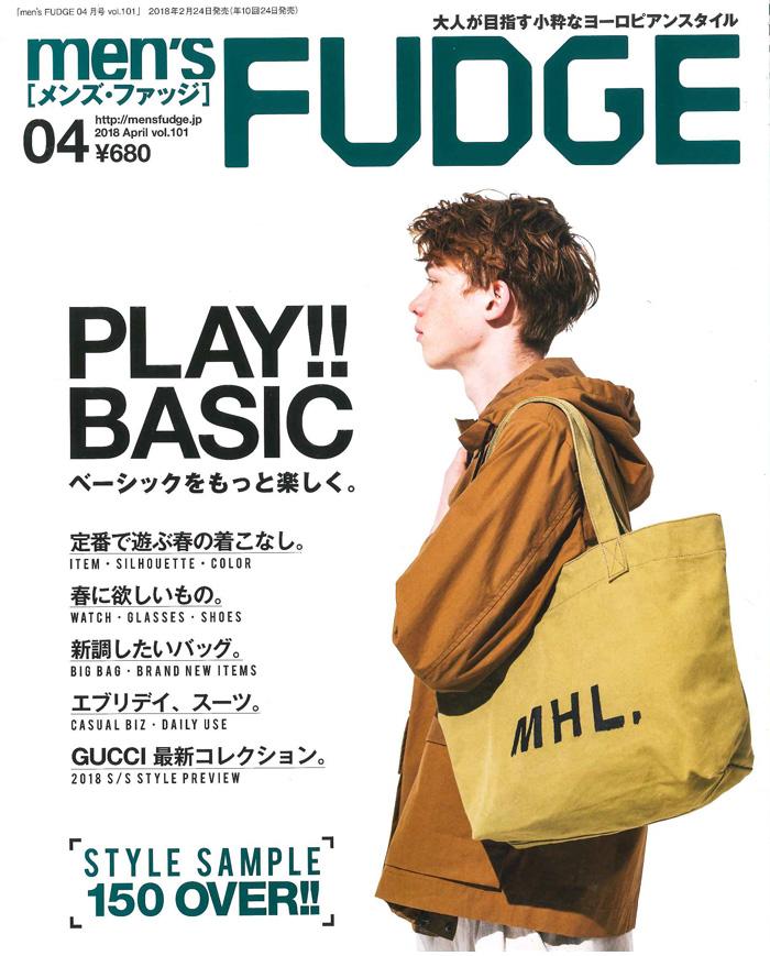 men's FUDGE 2018年2月24日(土)発行