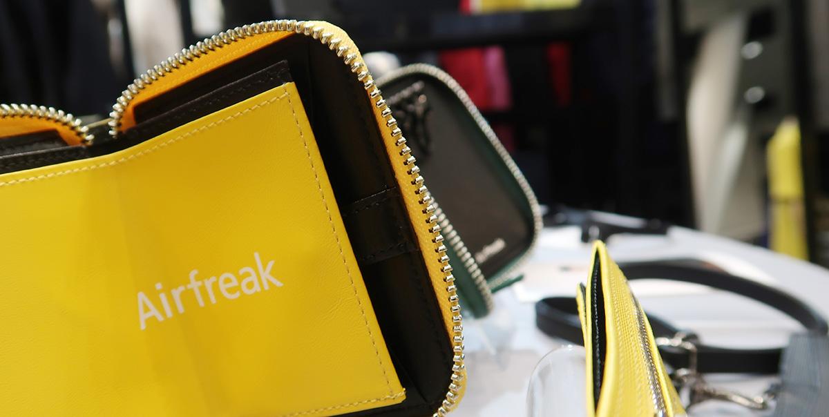 PROJECT TOKYOに 新ブランドAirfreakの革小物を展示しました。